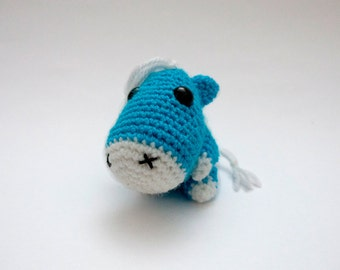 Shark amigurumi tiny plush toy by Chikai on Etsy