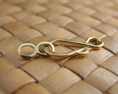 10 sets 8x20 mm Gold Plated Hook and Eye Clasps
