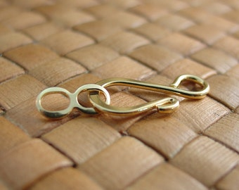 10 or 50 sets 8x20 mm Gold Plated Hook and Eye Clasps