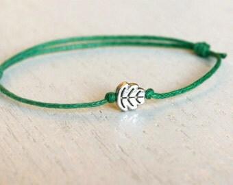 Leaf Bracelet / Leaf Anklet (many color to choose)