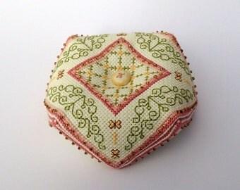 Spring Garden Biscornu Pattern Cross Stitch Instant Dowload