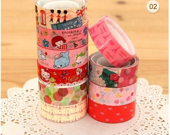Cartoon & Travel mini deco tape set 02 Series 9