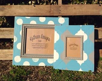 8x10 and 4x6 custom frame set painted to match your decor wedding/wedding gift/ nursery decor/ home decor/ gallery wall