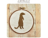 Meerkat Silhouette Counted Cross Stitch Pattern, Instant Download