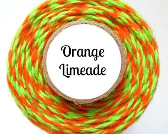 Orange and Lime Green Bakers Twine by Trendy Twine - Orange Limeade
