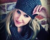 Crochet Hat Pattern - Easy Peasy Chunky Hat & Snood Crochet Pattern No.514 Scarf Pattern Digital Download