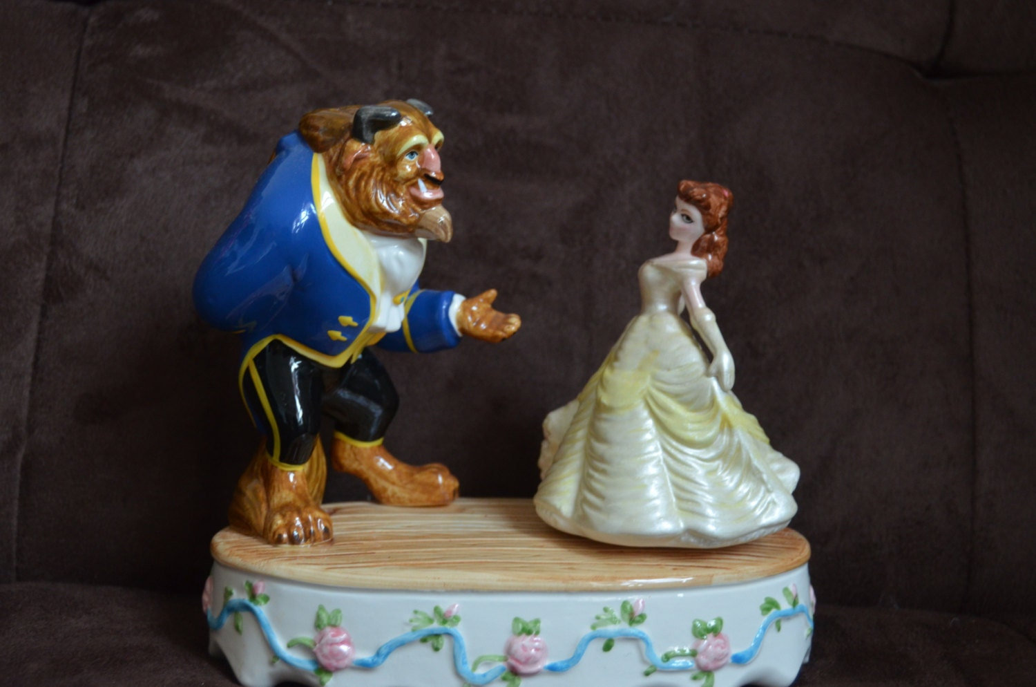 Schmid Beauty And The Beast Collectable Musical Figurine With