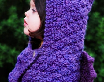 Animal Hoodie Knitting Pattern : Dragon Hooded Cowl Knitting Pattern - Kids Cowl Pattern ...