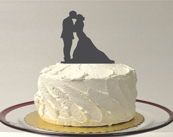 Silhouette Cake Topper  Mr and Mrs Silhouette Wedding Cake Topper Bride and Groom Cake Topper