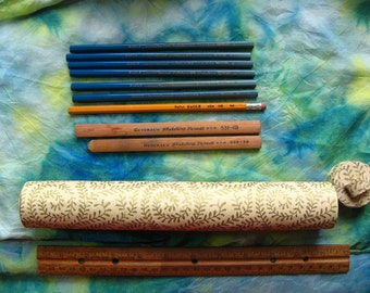 9 DRAWING PENCILS - 8 New and 1 Used, Vintage Eagle Turquoise H, Berol Eagle HB, General's Sketching Pencil 4b 6b Art Supplies in Cute Case