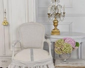 Antique French Chair w Slip Cover