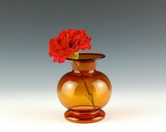Yellow Vase, Hand Blown Glass