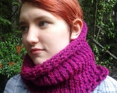 Knit Cowl Scarf - Berry