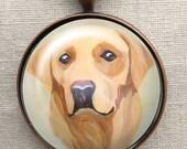 Yellow Lab Keychain ~ Dog Keychain ~ Dog Dad Gift ~ Gifts Under 10 ~ Pet Keepsake ~ February Birthday ~ Gifts for Him