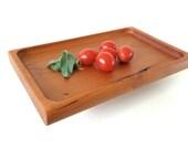 Small Cherry Wood Tray - Wedding gift, housewarming gift
