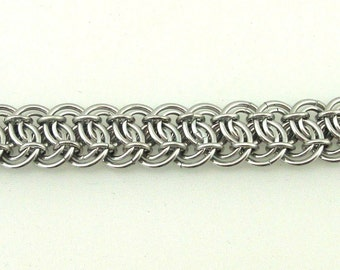 Chainmaille Jewellery, Silver Garterbelt, Aluminum