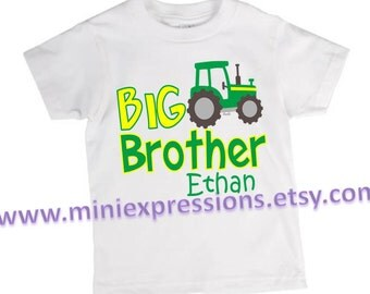 Big Brother Tractor shirt Personalized