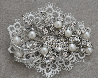 Bridal head piece, Bridal comb,Bridal Hair piece ,wedding comb,bridal pearl hair ,wedding hair , bridal head piece