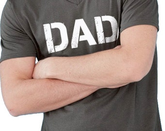 New Daddy Husband Gift DAD T Shirt Mens t shirt V-NECK Tshirt Dad Shirt for New Dad Valentines Day Funny T shirt Dad Gift