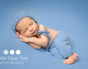 SALE  Newborn photo prop,newborn pants, newborn pants set,newborn pants and hat bonnet, newborn boy, newborn girl, newborn props, knit pants