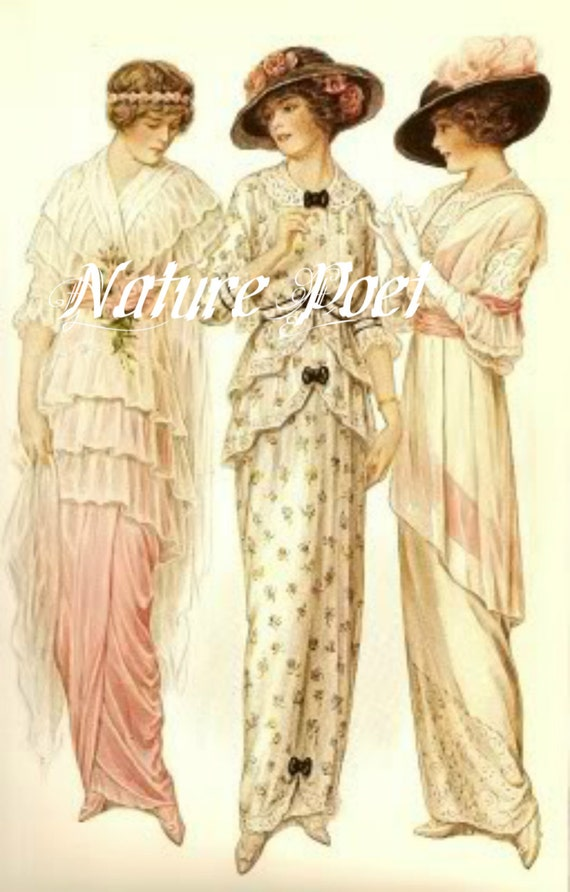 Womens Clothing  1900s  Clothing  Dating  Landscape