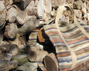 Fireplace Tool Firewood Log Carrier, Firewood Tote Bag, Wood Stove Log Bag Modern Farmhouse Rustic Cabin Country Home Decor Winter Mens Gift