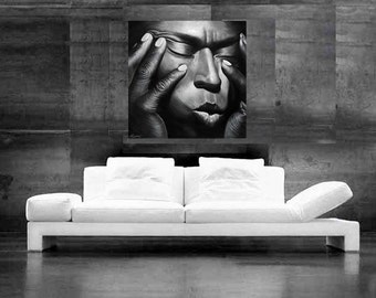 Miles Davis Painting Jazz art CANVAS print