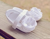 Toddler Girl Shoes Baby Girl Shoes Soft Soled Shoes White Flower Girl Shoes White Lace Flower Girl Shoes comes in Ivory too - ODETTE