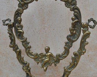 Beautiful Bronze or Brass French Vanity Mirror Frame