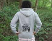 Forest Hoodie - Large Unless...  Lorax Theme Clearcut Print, Small, Grey - punk hoody, dr seuss screenprint, environmental, sweatshirt hoody