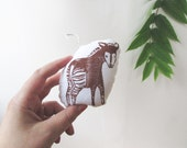 Okapi Ornament. Mini Plush. Hand Stamped. Pick any color. Made to order.