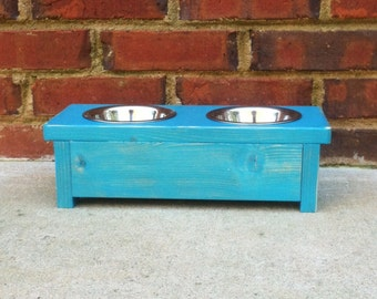 Raised Toy Dog or Cat Bowl Stand