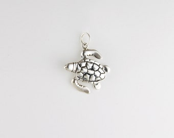 Sea Turtle Sterling Silver Charm