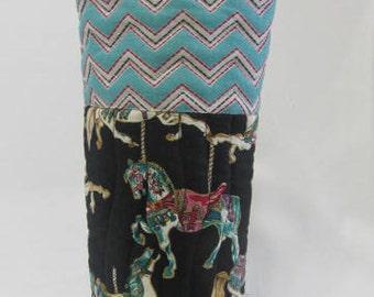 Wine Bag Carousel Horses PaintedPonies DancingPonies Carnival Rides Hostess Gift Bag