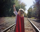Super Heroine Cape.  Dress up clothes.  Includes mask.  Children's custom sizes and colors.