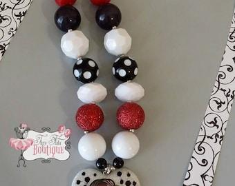 CRUELLA DEVILLE Chunky Necklace- Chunky bubblegum necklace, Girls chunky necklace, Gumball necklace