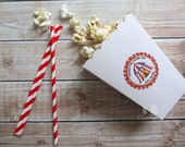 Circus Party Custom Favor Stickers - Under the Big Top Collection from Tea Party Designs