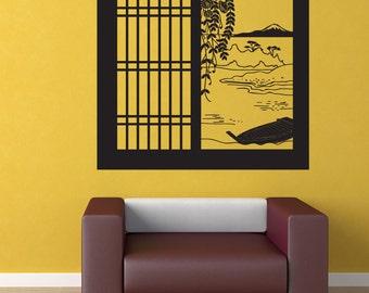 Vinyl Wall Art Decal Sticker Japanese Window View OSDC684s