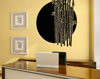 Vinyl Wall Decal Sticker Bamboo Sunset OSAA1390s