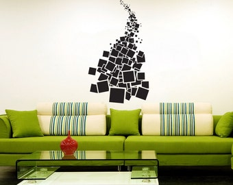 Vinyl Wall Art Decal Sticker  Falling Squares 1304m