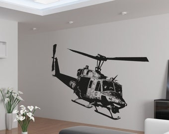 Vinyl Wall Decal Sticker Huey Helicopter OSAA1651B
