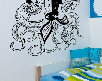 Vinyl Wall Decal Sticker Alien Squid 5337m