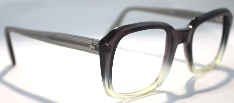 Large Frame Vintage Glasses : Vintage 1970 s Grey Mens Large Frame Glasses Haute Juice
