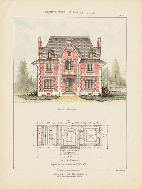 1890 antique victorian architecture lithograph plan and 1890 home architecture