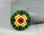 Dragonfly Magnet Boho Chic Mandala New Age Sacred Geometry Hippie Kaleidoscope Do-Si-Do