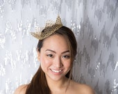 Fancy Gold Fairy Tale Lace Princess Crown -  queen, halloween costume, birthday crown