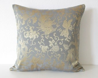 Gold dragon - decorative pillow cover - Asian Pillow cover