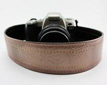 Vintage Cadillac Bronzeburst Camera Strap, made of 70's Caddy hard top vinyl