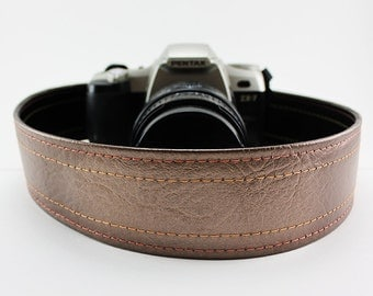 Vintage Cadillac Bronzeburst Camera Strap, made of 70's Caddy hard top vinyl