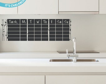 Daily Tasks -- Chalkboard Vinyl Wall Decal
